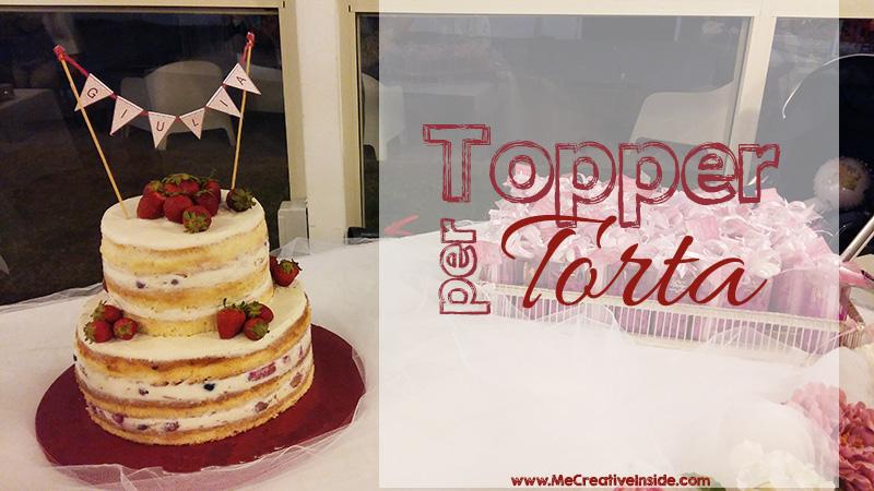 me creativeinside cake topper cartoncino torta bandierine