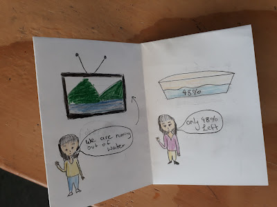 Demonstrating learning about the Auckland water shortage