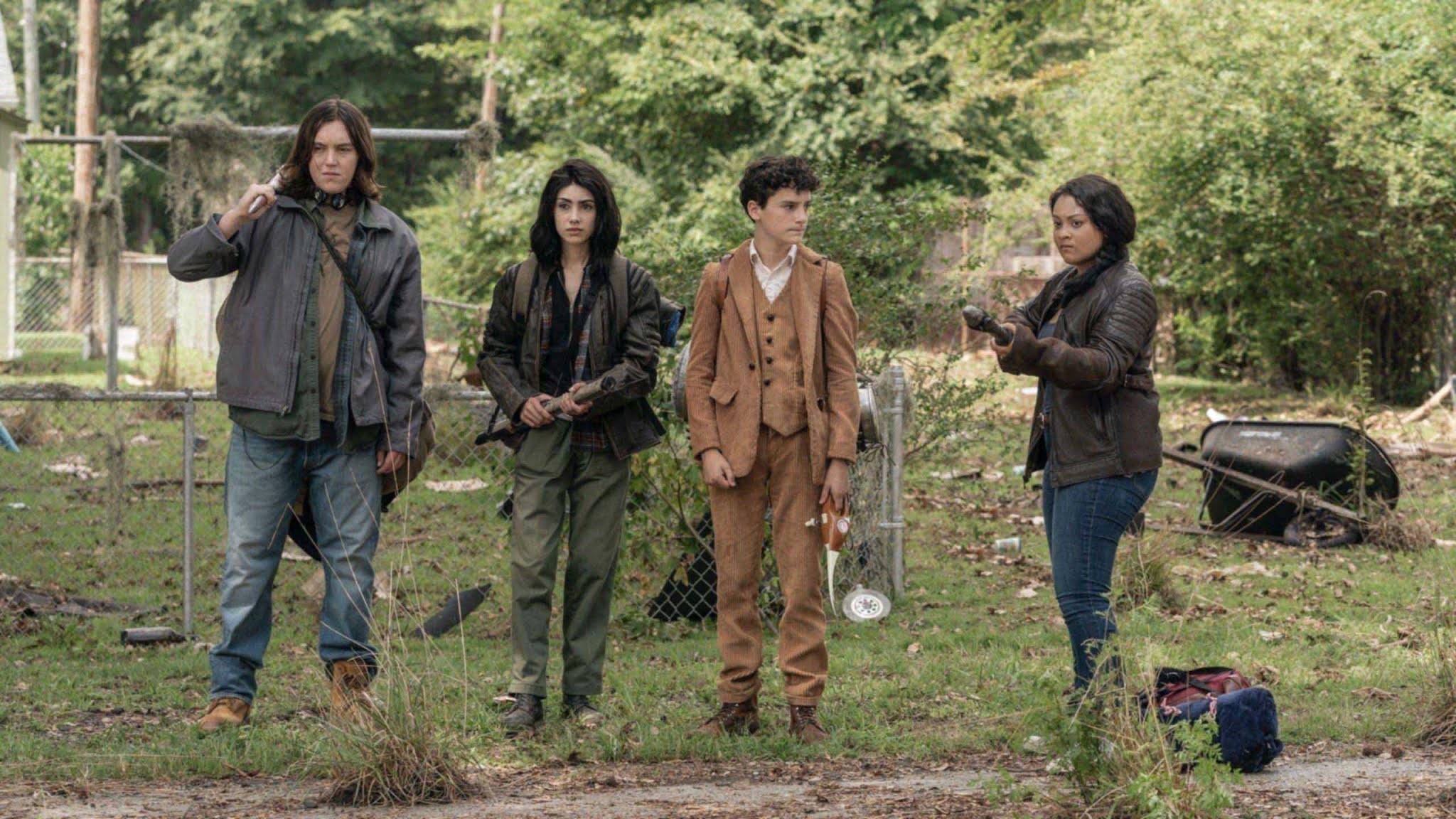 Hope, Iris, Elton y Silas comienzan su aventura en The Walking Dead World Beyond