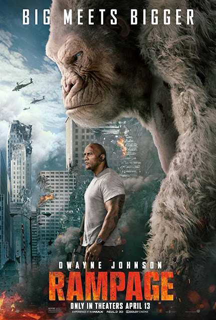 Poster Rampage 2018 Full Movie Download Dual Audio Hindi Dubbed 720p