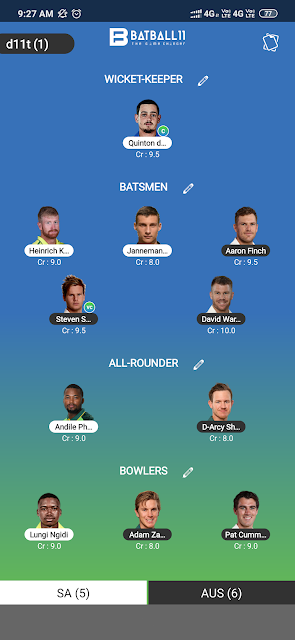 SA vs AUS Dream11 Match Prediction | South Africa vs Australia 3rd ODI | Team News, Playing11, Fantasy Team