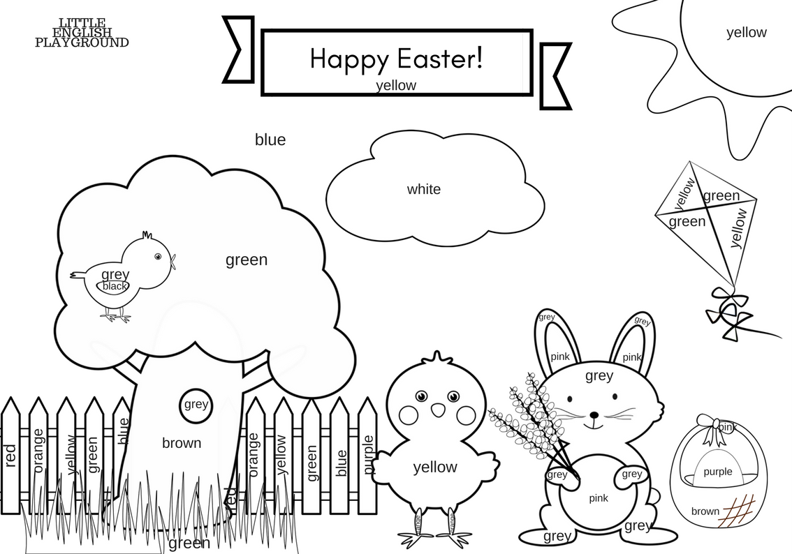 Easter Printables Story Colouring Pages And Game