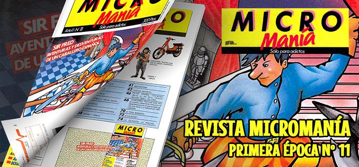 Revista Micromanía Primera época Número 11 1986