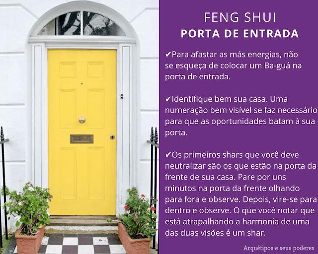 A porta de entrada da casa e o Feng Shui