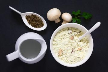 وصفة شوربة المشروم بالكريمة المغذية اللذيذة بمكونات بسيطة