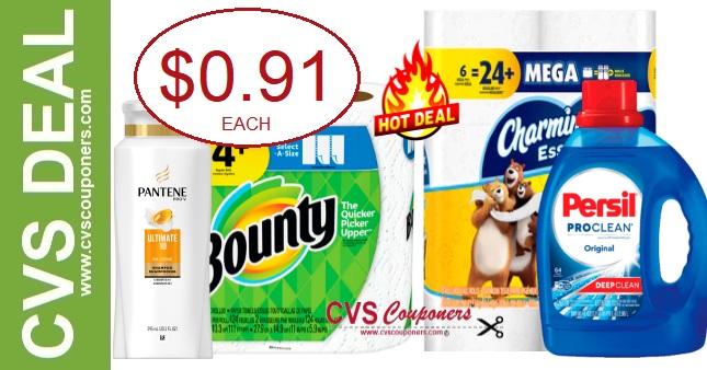 Charmin, Bounty, Persil & Pantene CVS Deal 12-15-12-21