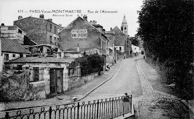 Montmartre, rue de l'Abreuvoir 1900