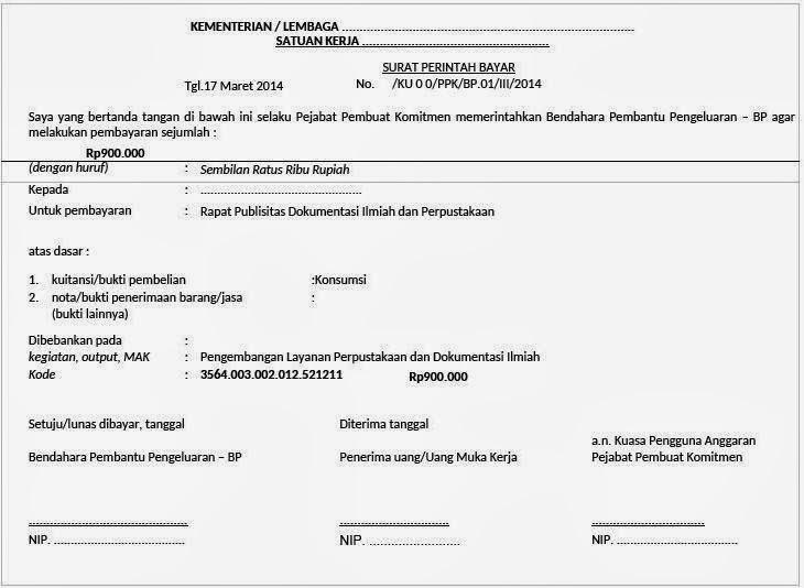 contoh surat perintah bayar spby irwil123