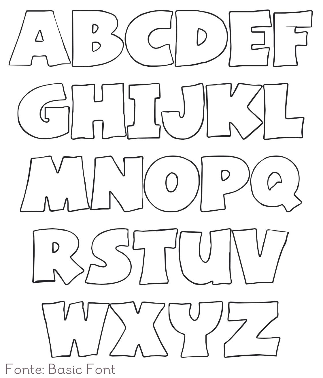 Letras de feltro para decorar o quarto dicas pra mam e for Printable alphabet book template