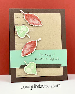 Stampin' Up! Love of Leaves Friendship Card ~ August-December 2020 MIni Catalog ~ www.juliedavison.com #stampinup #autumn