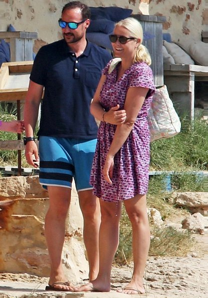 Crown Prince Haakon, Crown Princess Mette-Marit, Princess Ingrid Alexandra and Prince Sverre Magnus on holiday