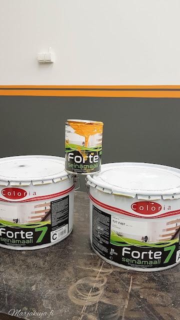 autotallin remontti maalatut seinät