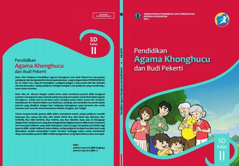 Download Gratis Buku Guru dan Buku Siswa Pendidikan Agama Khonghucu dan Budi Pekerti SD Kelas 2 Kurikulum 2013 Format PDF