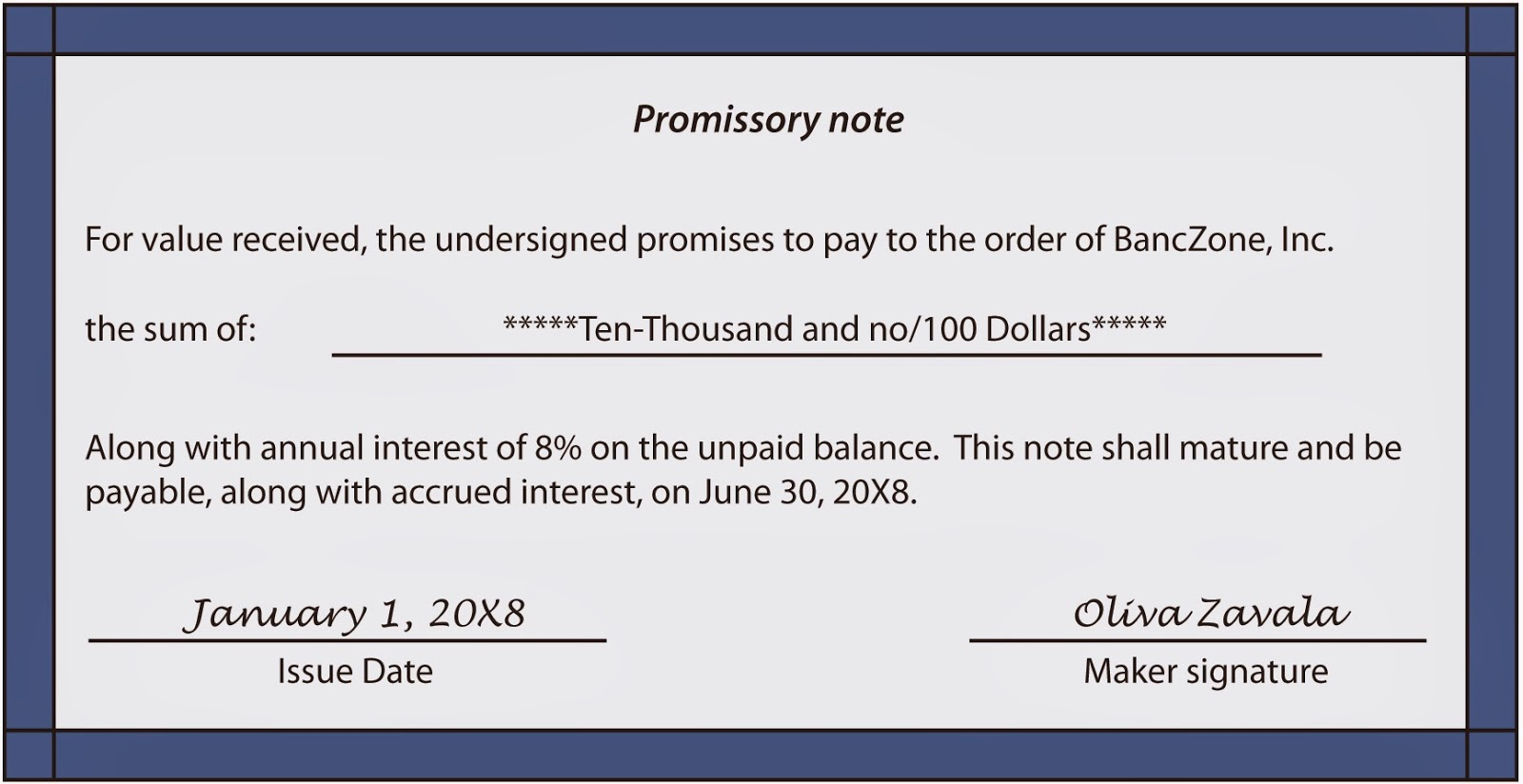 legal promise to pay document – Promise to Pay Note