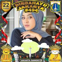 Gambar Twibbon Hari Ulang Tahun DKI Jakarta ke-494