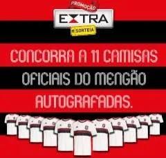 Nova Promoção Jornal Extra Camisas Mengão Autografadas e Smartphones Galaxy A30