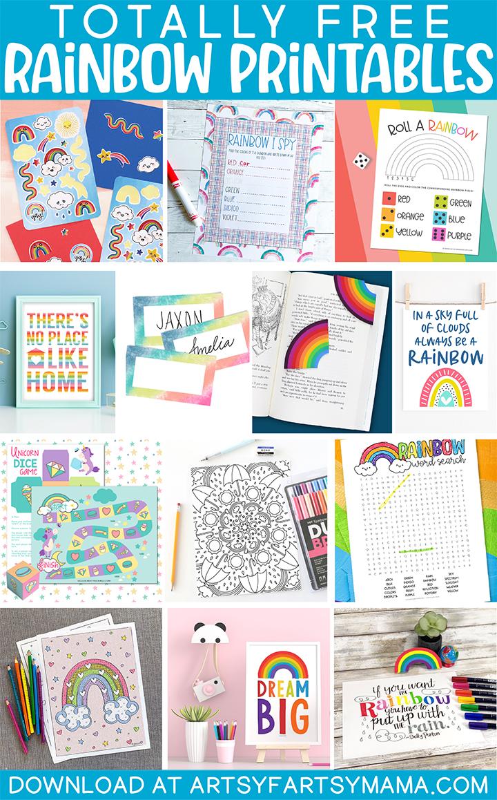 Free Rainbow Printables