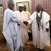 EPIC PHOTOS: Buhari meets Shagari again years after overthrowing his government