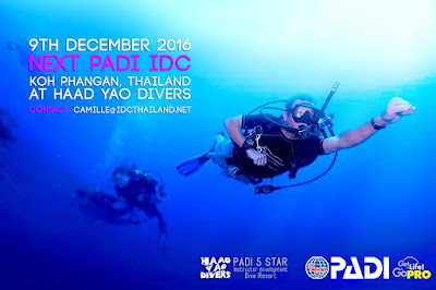 Next PADI IDC on Koh Phangan, Thailand starts 9th December 2016