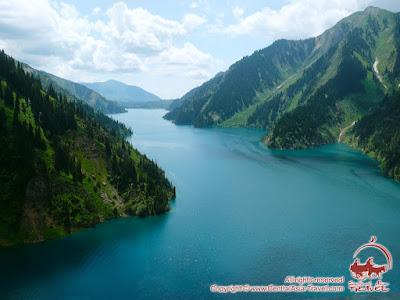 Trekking in Western Tien-Shan mountains to the grandiose Lake Sary-Chelek