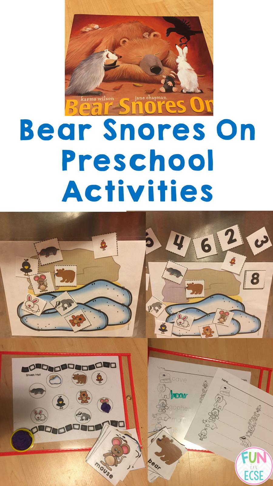 Karma Wilson Bear Series Art Project Kindergarten
