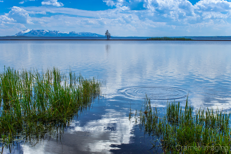 Cramer Imaging's quality landscape photograph of the tranquil waters of Yellowstone Lake in Yellowstone National Park Wyoming