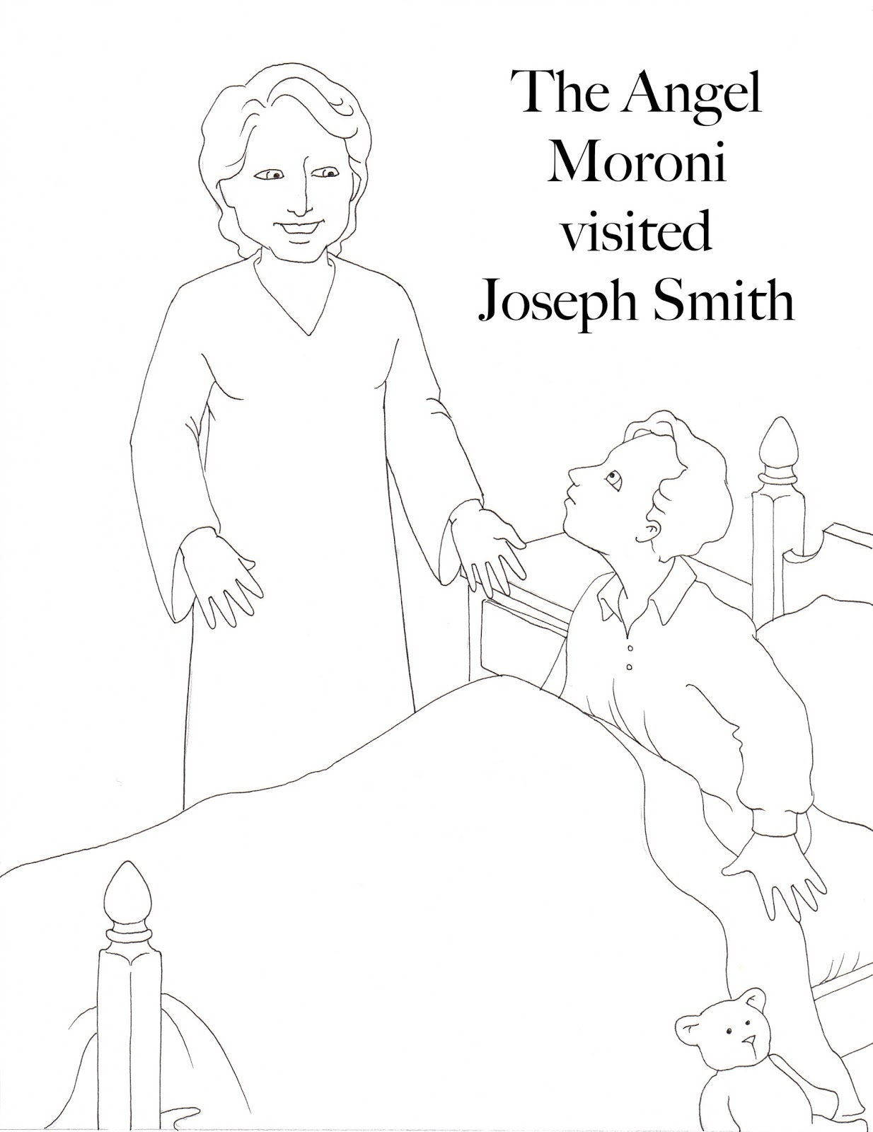 Susan Fitch Design Moroni Visits Joseph Coloring Page
