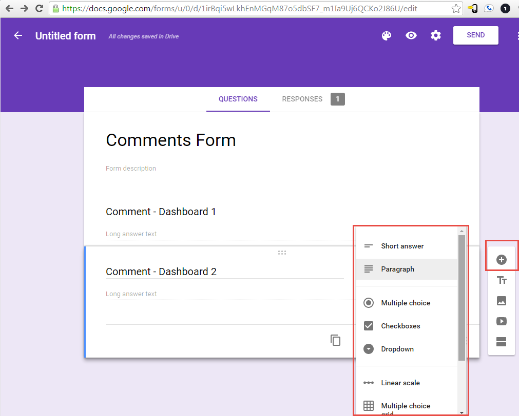 Data Entry / Write Back in Tableau using Google Forms and Google