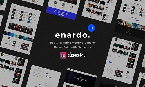 Enardo - Blog & Magazine WordPress Theme Download