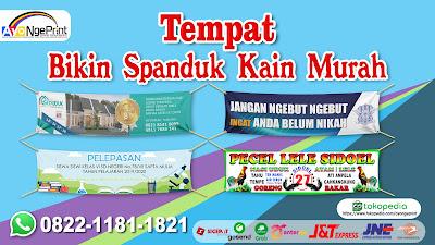 Bikin Spanduk Kain Promosi Perumahan Murah di Grogol Petamburan, Jakarta Barat