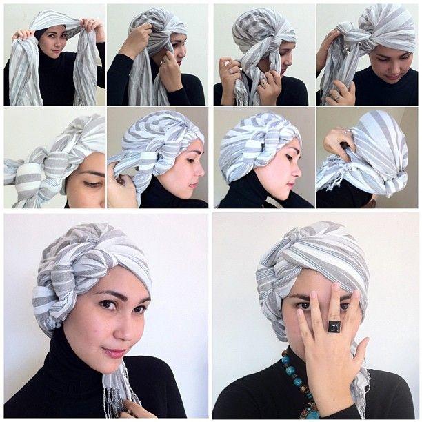 Como usar turbantes e lenços - passo a passo