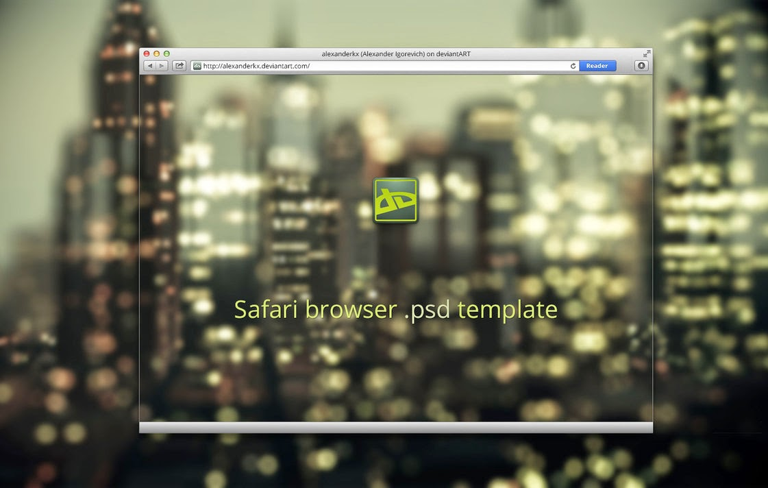 Safari Browser PSD Template