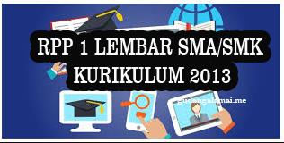 RPP Matematika Peminatan Kelas 11 SMA dan SMK Semester 1 Revisi Tahun 2020