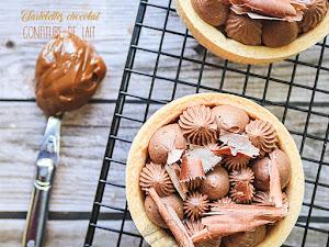 Tartelettes confiture de lait et chocolat