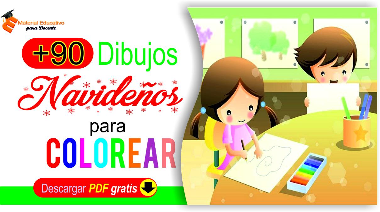 Material Educativo Dibujos Navideños Para Colorear Niños De