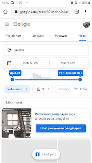 Layanan google untuk mengecek Harga hotel
