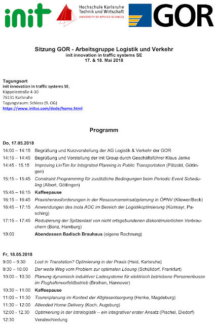 Programm GOR working group Logistcs & Transportation meeting