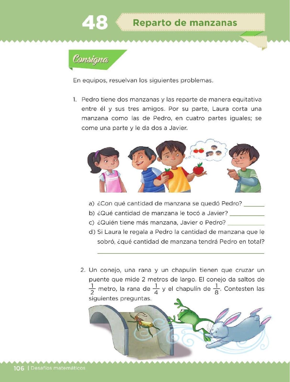 Reparto De Manzanas Bloque Iv Leccion 48 Apoyo Primaria