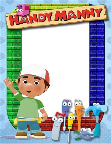 Marco para fotos infantiles inspirado en Handy Manny ( Manny Manitas)