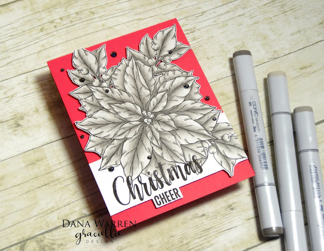 Dana Warren - Kraft Paper Stamps - Graciellie Designs - Copic Markers