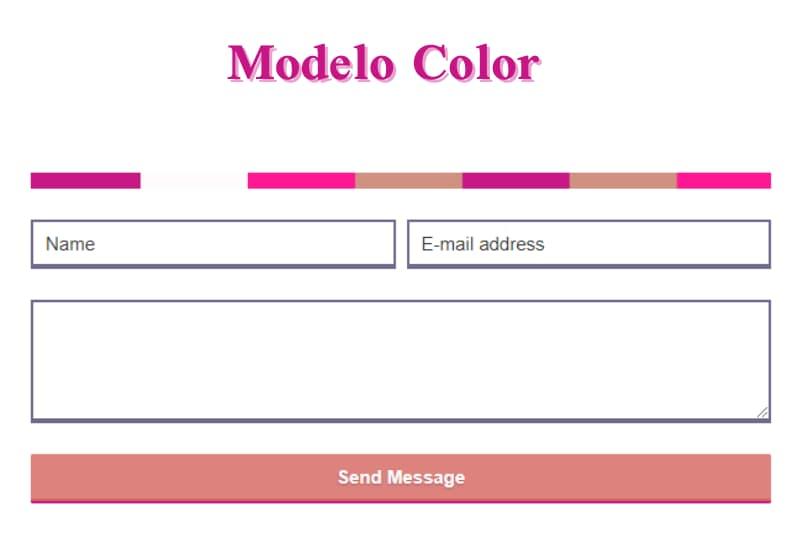 Demonstração formulário modelo color