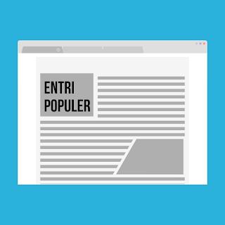 cara memasang menu artikel populer