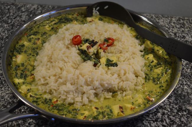 palak paneer, intialainen, kasvisruoka,arkiruoka, curry