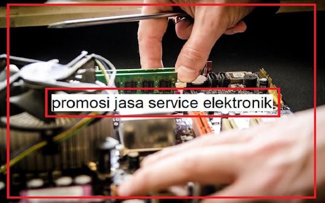 promosi jasa service elektronik