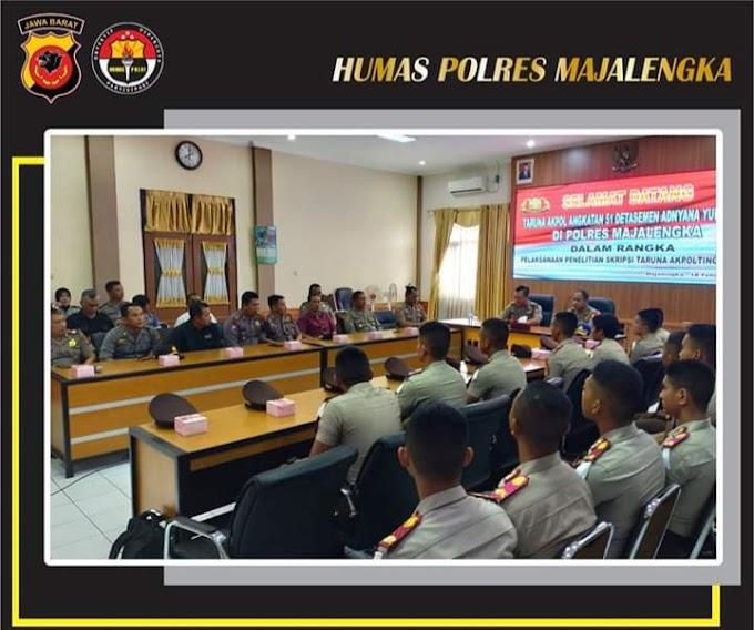 Polres Majalengka Terima 18 Taruna dan Taruni Akpol Dalam Rangka Pelaksanaan Penelitian Skripsi