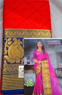 Cotton-silk border saree