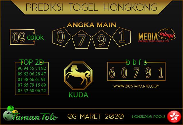 Prediksi Togel HONGKONG TAMAN TOTO 02 MARET 2020