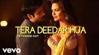 तेरा दीदार हुआ Tera Deedar Hua Lyrics In Hindi
