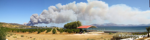 Summer Wildfire panorama