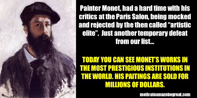 Success Stories From Famous People Who Failed Before Succeeding: Monet